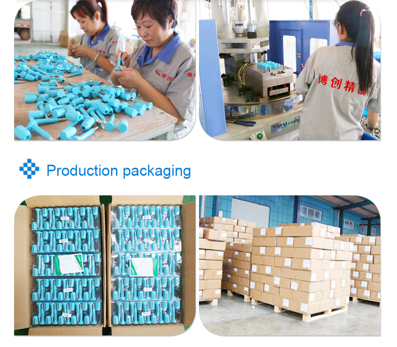 bolt seal factory workshop and packaging