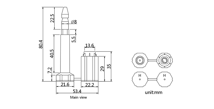 B302 bolt seal CAD