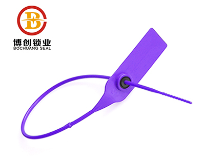 P418 Indicative plastic security seal  adjustable  pull tight plastic straps  seal
