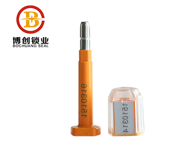 B405 transparent type bolt container seal for doors